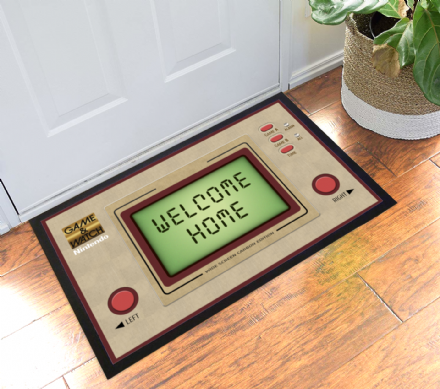 Game & Watch Nintendo Retro Handheld Game Welcome Doormat